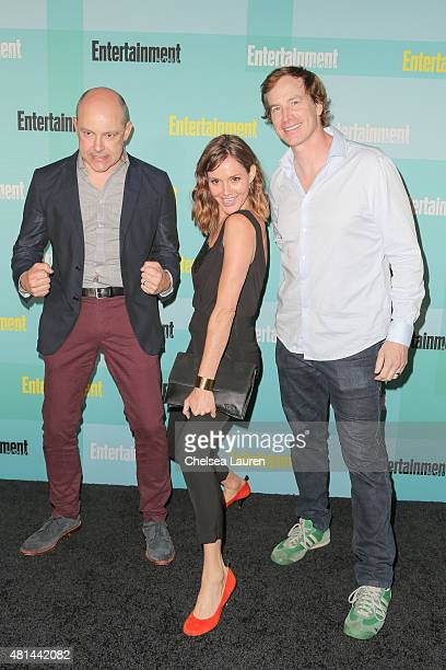 Actors Actors Rob Corddry Erinn Hayes and Rob Huebel arrive at the Entertainment Weekly celebration at Float at Hard Rock Hotel San Diego on July 11...
