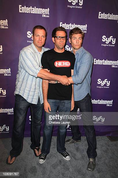 Actors Adam Baldwin Zachary Levi and Ryan McPartlin arrive at the 2010 ComicCon Celebration Hosted By Entertainment Weekly and Syfy at Hotel Solamar...