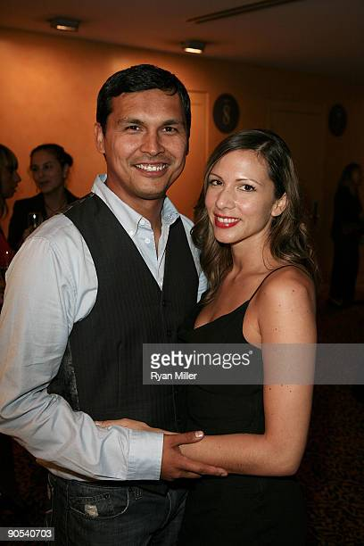 Actors Adam Beach and Summer Tiger pose while celebrating the opening night performance of 'August Osage County' at the Center Theatre Group/Ahmanson...