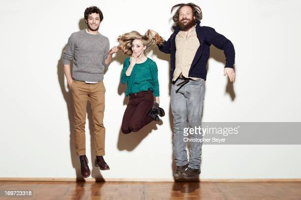 Actors Adam Brody Amanda Seyfried Peter Sarsgaard are photographed for Entertainment Weekly Magazine on January 22 2013 in Park City Utah