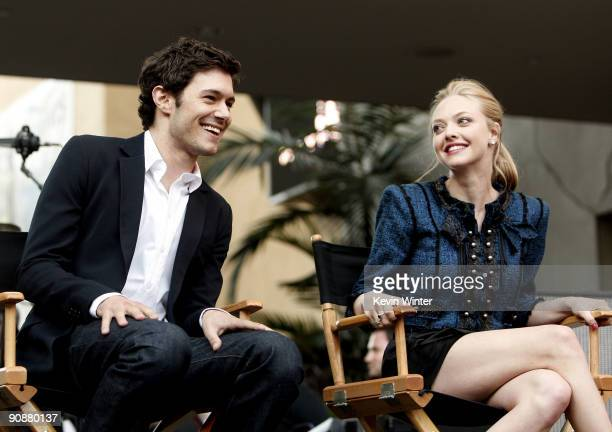 Actors Adam Brody and Amanda Seyfried appear at the 'Jennifer's Body' Hot Topic Fan Event at Hollywood and Highland on September 16 2009 in Los...