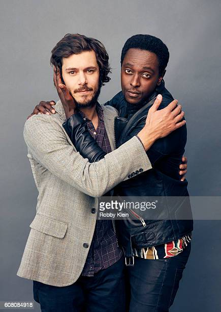 Actors Adam Brody and Edi Gathegi from Crackle's 'StartUp' are photographed for The Wrap on August 7 2016 in Beverly Hills California