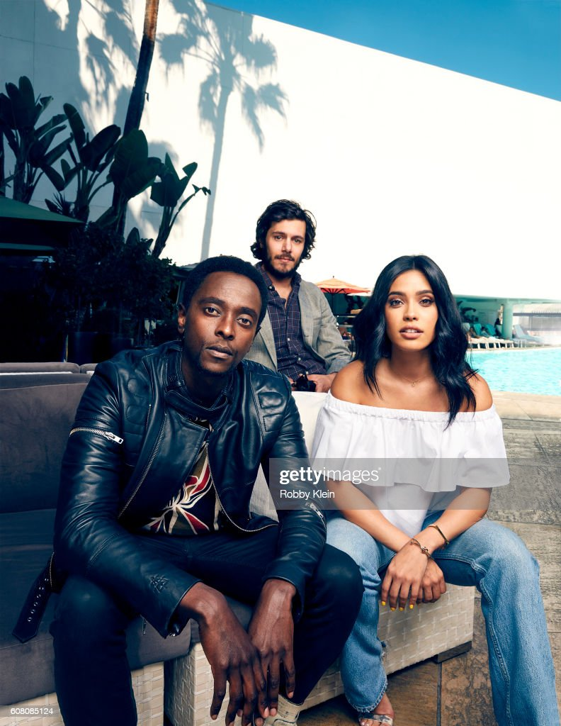 Actors Adam Brody, Edi Gathegi and Otmara Marrero from Crackle's 'StartUp' are photographed for The Wrap on August 7, 2016 in Beverly Hills, California