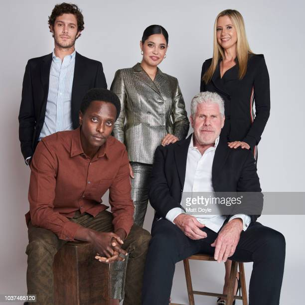 Actors Adam Brody Edi Gathegi Otmara Marrero Ron Perlman and Mira Sorvino of Sony Crackle's StartUp pose for a portrait during the 2018 Tribeca TV...