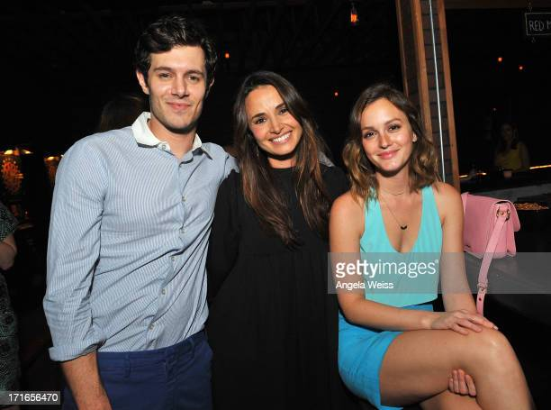 Actors Adam Brody Mia Maestro and Leighton Meester attend the premiere after party of 'Some Girl' at Laemmle NoHo 7 on June 26 2013 in North...