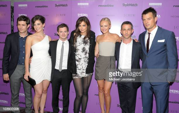 Actors Adam Brody Rebecca Lawrence Elijah Wood Katie Holmes Malin Akerman Jeremy Strong and Josh Duhamel attend the Cinema Society with People...