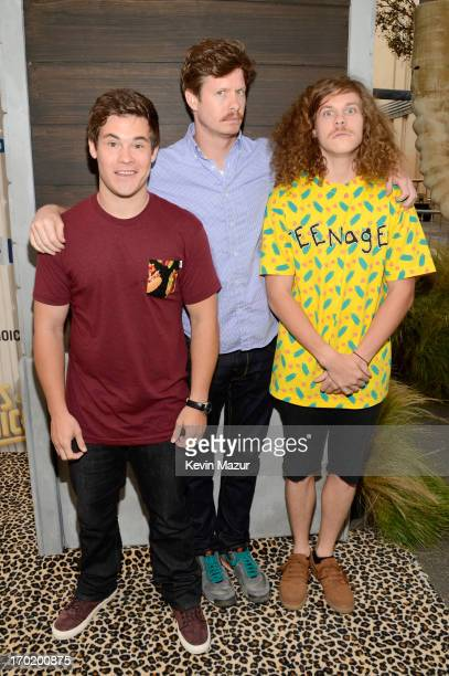 Actors Adam DeVine Anders Holm and Blake Anderson attend the 2013 Spike TV Guys Choice at Sony Pictures Studios on June 8 2013 in Culver City...