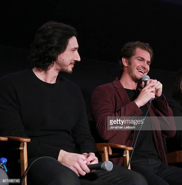 Actors Adam Driver and Andrew Garfield at the American Cinematheque conversation with Director Martin Scorsese and Producer Irwin Winkler at the...