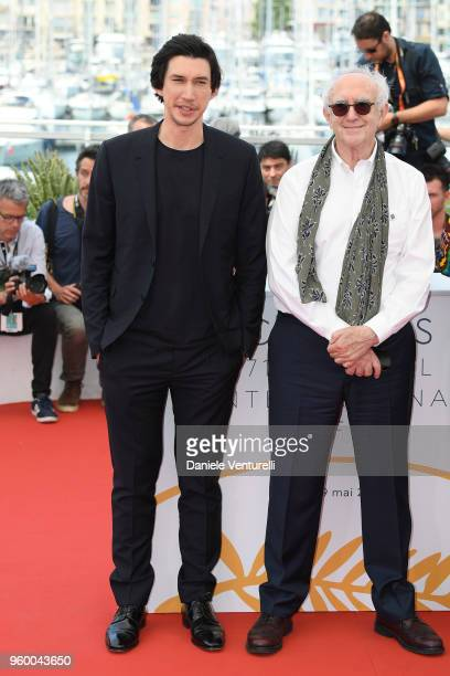 Actors Adam Driver and Jonathan Pryce attend the photocall for the 'The Man Who Killed Don Quixote' during the 71st annual Cannes Film Festival at...