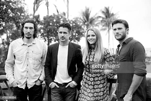 Actors Adam Driver Colin Farrell Teresa Palmer and Scott Eastwood pose for a portrait at the Taste of Summer Opening Night Party during the 2015 Maui...