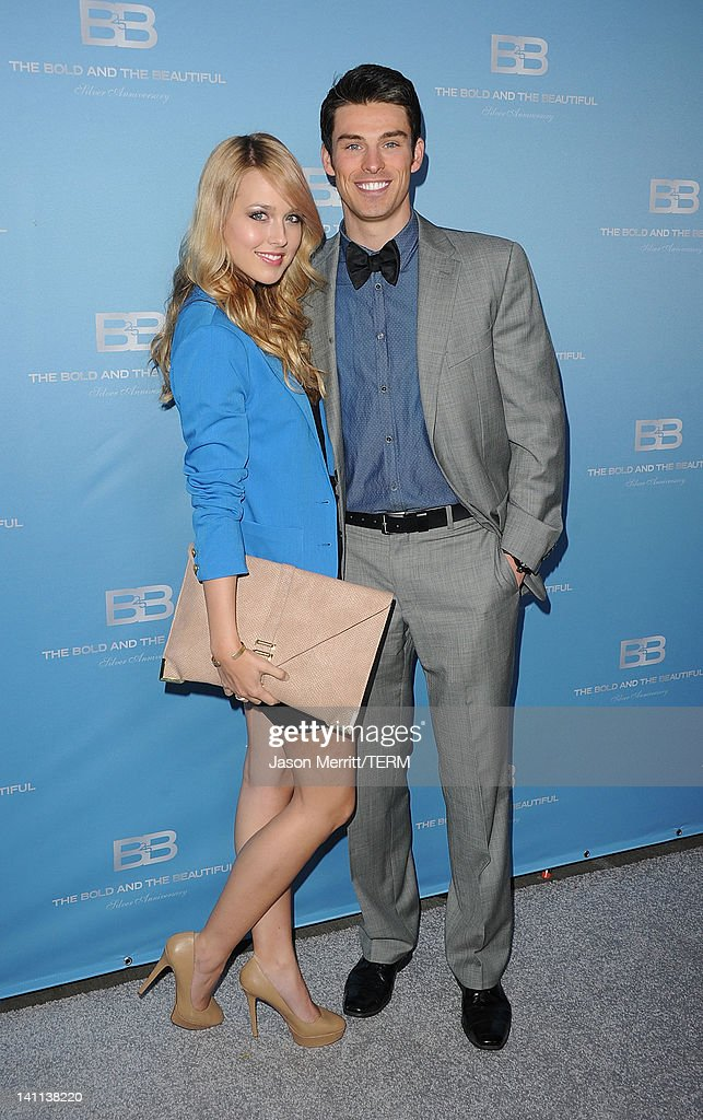 Actors Adam Gregory and wife Sheridan Sperry attend the 5th Silver Anniversary party for CBS' 'The Bold And The Beautifu on March 10, 2012 in Los Angeles, California.