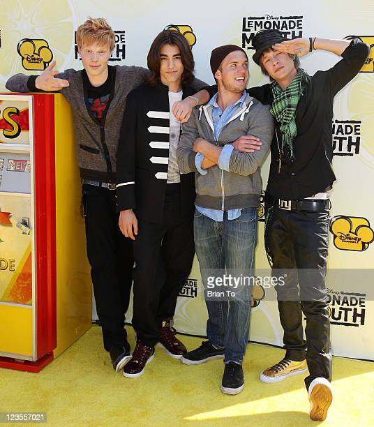 Actors Adam Hicks Blake Michael Chris Brochu and Nick Roux attend 'Lemonade Mouth' premiere benefiting the mayor's partnership for Los Angeles...