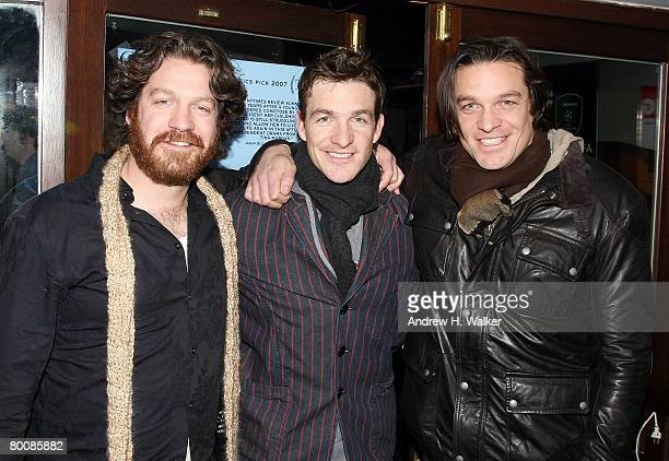 Actors Adam Johnson Brad Johnson and Bart Johnson attend the after party of the premiere of Happy Valley at 6th Ward March 2 2008 in New York City