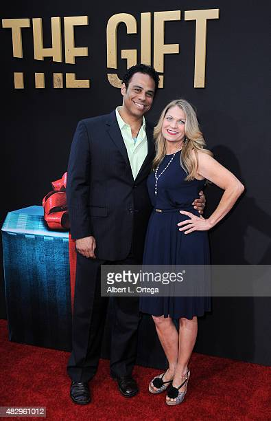 Actors Adam LazarreWhite and Dendrie Taylor arrive for STX Entertainment's 'The Gift' Los Angeles Premiere held at Regal Cinemas LA Live on July 30...