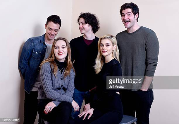 Actors Adam Long Odessa Young Max Burkholder Nicola Peltz and Ben Winchell from the film 'When the Street Lights Go On' pose for a portrait in the...