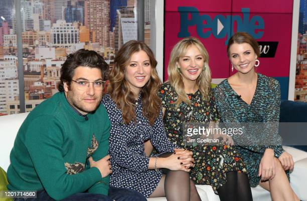 Actors Adam Pally, Jessy Hodges, Abby Elliott and host Andrea Boehlke on the set of People Now on January 24, 2020 in New York, United States.