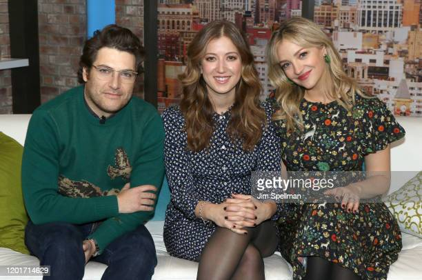 Actors Adam Pally Jessy Hodges and Abby Elliott visit People Now on January 24 2020 in New York United States