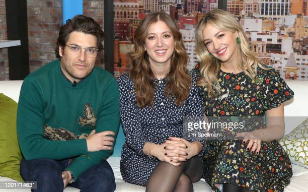 Actors Adam Pally, Jessy Hodges and Abby Elliott visit People Now on January 24, 2020 in New York, United States.