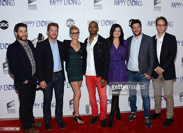 Actors Adam Pally, Zachary Knighton, Eliza Coupe, Damon Wayans, Casey Wilson and producers David Caspe and Jonathan Groff attend the Sony Pictures...