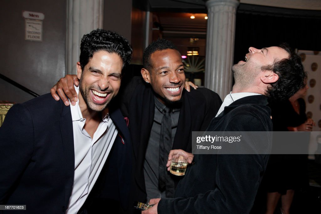 Actors Adam Rodriguez, Marlon Wayans and Rory Cochrane attend Los Angeles Police Memorial Foundation's Celebrity Poker Tournament at Saban Theatre on April 27, 2013 in Beverly Hills, California.