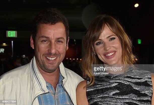 Actors Adam Sandler and Jennifer Garner attend the Los Angeles premiere of Paramount Pictures' 'MEN WOMEN CHILDREN' at the Directors Guild Of America...