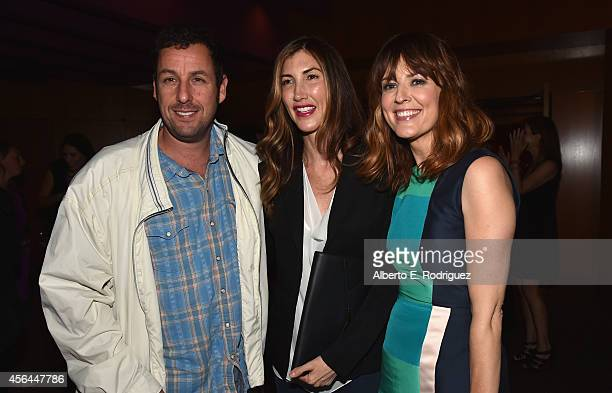 Actors Adam Sandler Jackie Sandler and Rosemarie DeWitt attend the after party for the premiere of Paramount Pictures' Men Women Children at The...