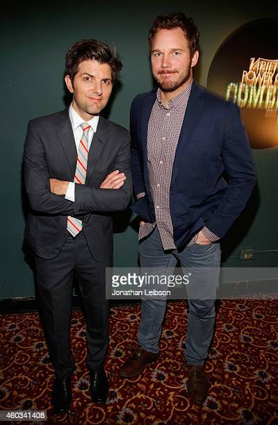 Actors Adam Scott and Chris Pratt attend Variety's 5th annual Power of Comedy presented by TBS benefiting the Noreen Fraser Foundation at The Belasco...