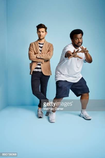 Actors Adam Scott and Craig Robinson from Ghosted are photographed for Entertainment Weekly Magazine on July 20 2017 at Comic Con in San Diego...
