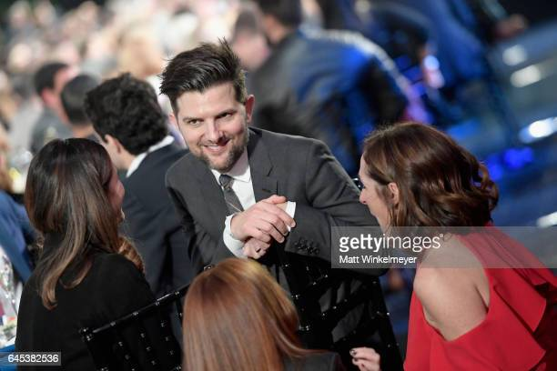 Actors Adam Scott and Molly Shannon attend the 2017 Film Independent Spirit Awards at the Santa Monica Pier on February 25 2017 in Santa Monica...