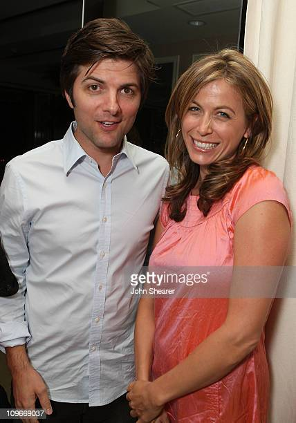 Actors Adam Scott and Sonya Walger attends The Gersh Agency EMMY Party w/Special Guest Frederic Fekkai held at The Terrace at Sunset Tower Hotel on...