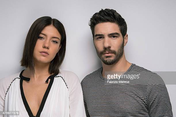 Actors Adele Exarchopoulos and Tahar Rahim are photographed on May 15 2015 in Cannes France