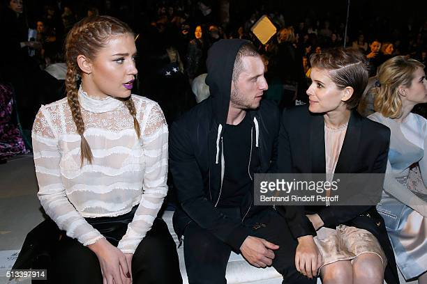 Actors Adele Exarchopoulos Jamie Bell and Kate Mara attend the HM Studio show as part of the Paris Fashion Week Womenswear Fall/Winter 2016/2017 on...