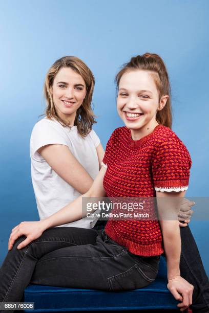 Actors Adele Haenel and Solene Rigot are photographed for Paris Match on March 22 2017 in Paris France