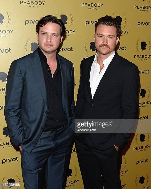 Actors Aden Young and Clayne Crawford attend The 74th Annual Peabody Awards Ceremony at Cipriani Wall Street on May 31 2015 in New York City