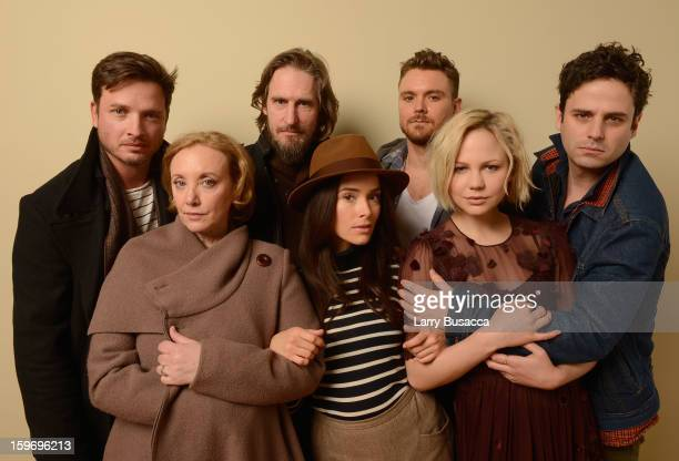 Actors Aden Young and J SmithCameron director Raymond McKinnon actors Abigail Spencer Clayne Crawford Adelaide Clemens and Luke Kirby pose for a...
