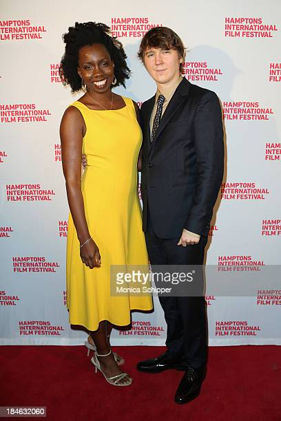 Actors Adepero Oduye and Paul Dano attend the 21st Annual Hamptons International Film Festival Closing Day on October 14, 2013 in East Hampton, New...