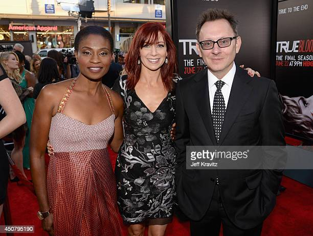 Actors Adina Porter Carrie Preston and Michael Emerson attend HBO 'True Blood' season 7 premiere at TCL Chinese Theatre on June 17 2014 in Hollywood...