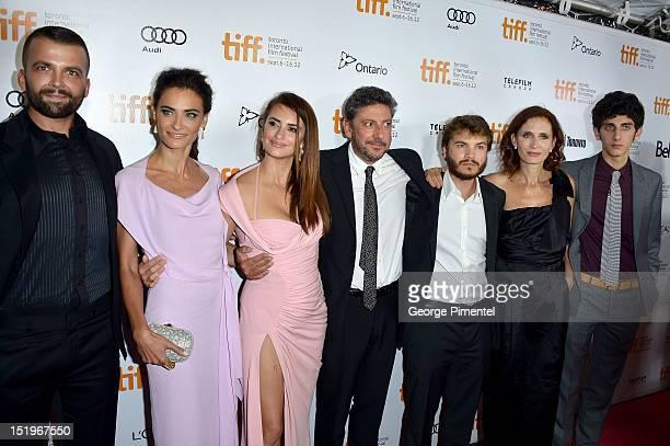 Actors Adnan Haskovi, Saadet Aksoy, Penélope Cruz, director Sergio Castellitto, actor Emile Hirsch, writer Margaret Mazzantini and actor Pietro...