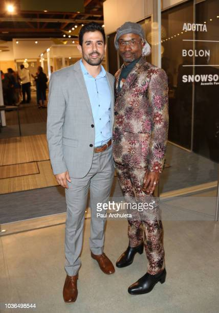 Actors Adrian Gonzalez and Billy Porter attend the DIVERSITY x DESIGN charity event at Helms Design Center on August 25 2018 in Culver City California