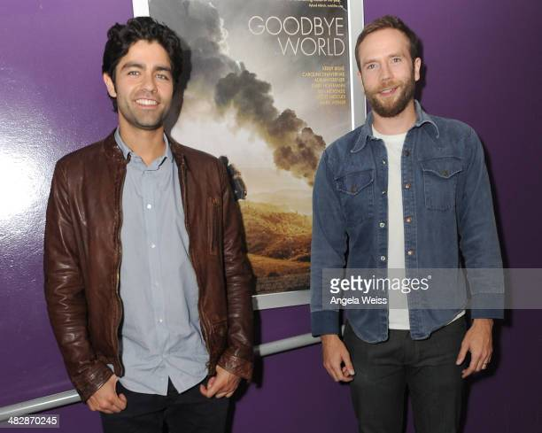 Actors Adrian Grenier and Mark Webber attend the screening of Samuel Goldwyn Films' Goodbye World at Laemmle Monica 4Plex on April 4 2014 in Santa...