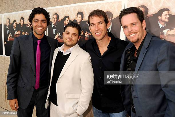 Actors Adrian Grenier Jerry Ferrara Entourage creator executive producer and head writer Doug Ellin and actor Kevin Dillon arrive on the red carpet...