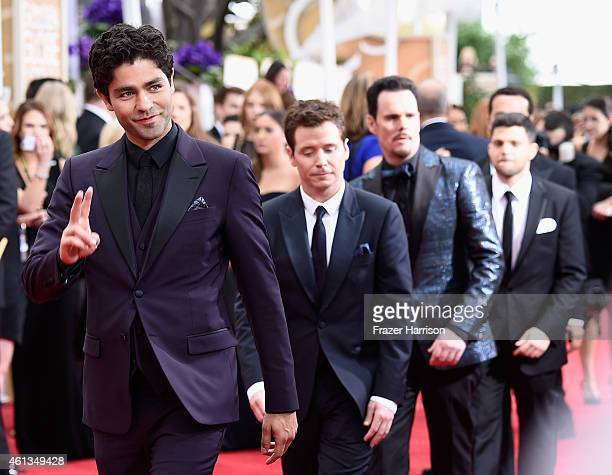 Actors Adrian Grenier, Kevin Connolly, Kevin Dillon, Jerry Ferrara, and Jeremy Piven attend the 72nd Annual Golden Globe Awards at The Beverly Hilton...