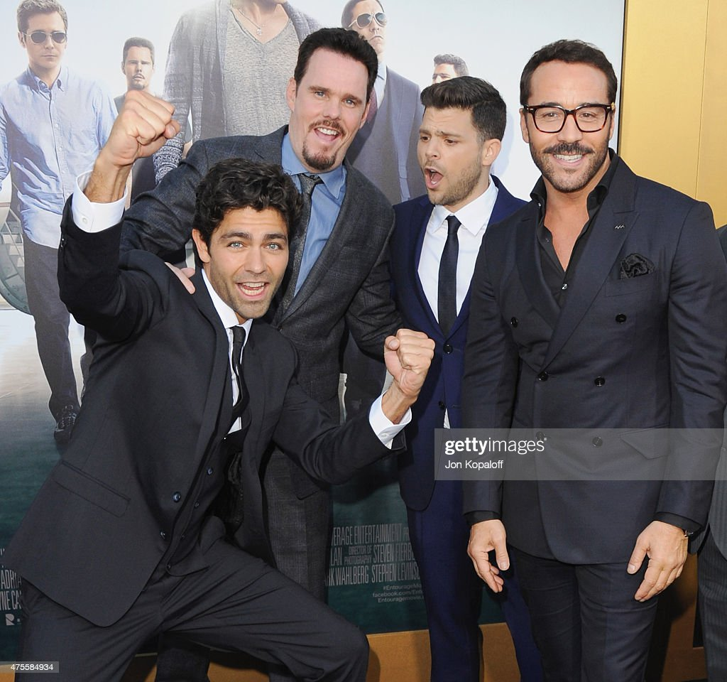 Actors Adrian Grenier, Kevin Dillon, Jerry Ferrara and Jeremy Piven attend at the Los Angeles Premiere 'Entourage' at Regency Village Theatre on June 1, 2015 in Westwood, California.