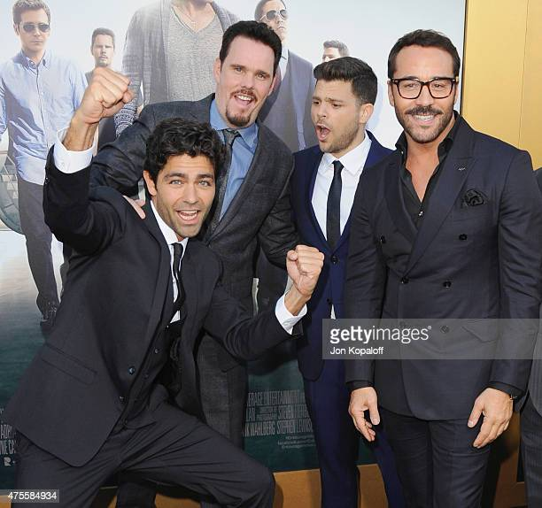 """Actors Adrian Grenier, Kevin Dillon, Jerry Ferrara and Jeremy Piven attend at the Los Angeles Premiere """"Entourage"""" at Regency Village Theatre on June..."""