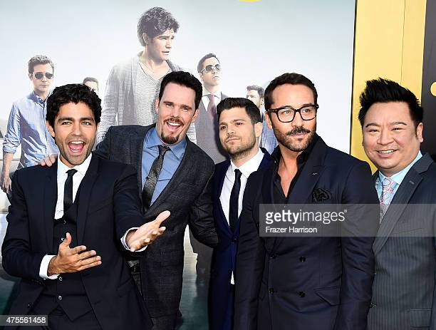 """Actors Adrian Grenier, Kevin Dillon, Jerry Ferrara, Jeremy Piven and Rex Lee attend the premiere of Warner Bros. Pictures' """"Entourage"""" at Regency..."""