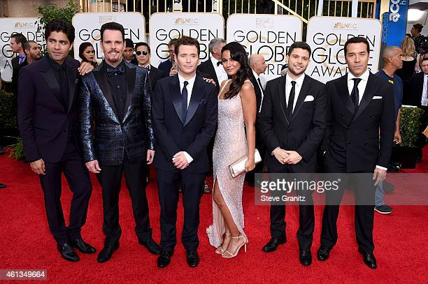 Actors Adrian Grenier, Kevin Dillon, Kevin Connolly, Emmanuelle Chriqui, Jerry Ferrara, and Jeremy Piven attend the 72nd Annual Golden Globe Awards...