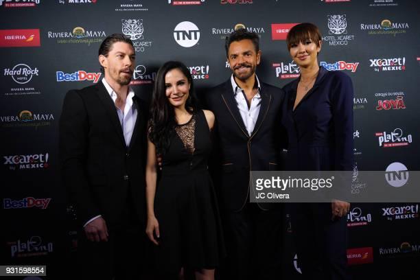 Actors Adrian Lastra Martha Higareda Eugenio Derbez and Jackie Cruz attend the 5th Annual Premios PLATINO Of Iberoamerican Cinema Nominations...