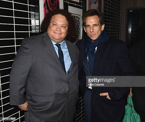 Actors Adrian Martinez and Ben Stiller attend the after party for The Secret Life Of Walter Mitty screening hosted by 20th Century Fox with The...