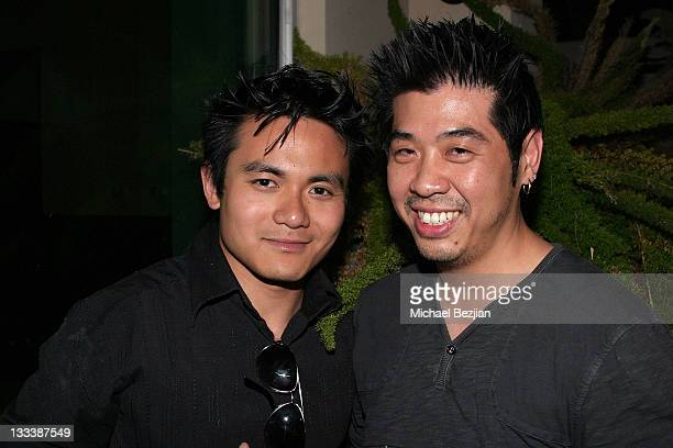 Actors Adrian Zaw and Producer Jeff Lam attend Aquadeco Water's Mixer honoring the BET Awards on June 23 2008 in Los Angeles California