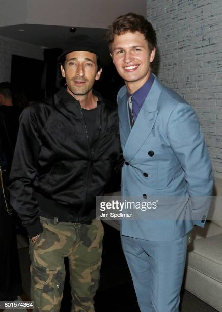 Actors Adrien Brody and Ansel Elgort attend the screening after party for Baby Driver hosted by TriStar Pictures with The Cinema Society and Avion at...